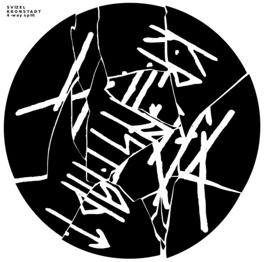 Black Aspirin / Lezok / Svízel / Kronstadt – 4-way Split / LP