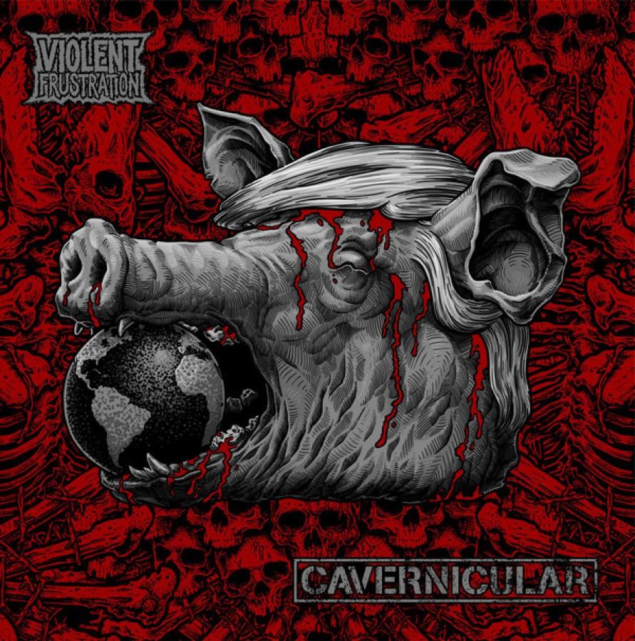 Cavernicular / Violent Frustration split / LP