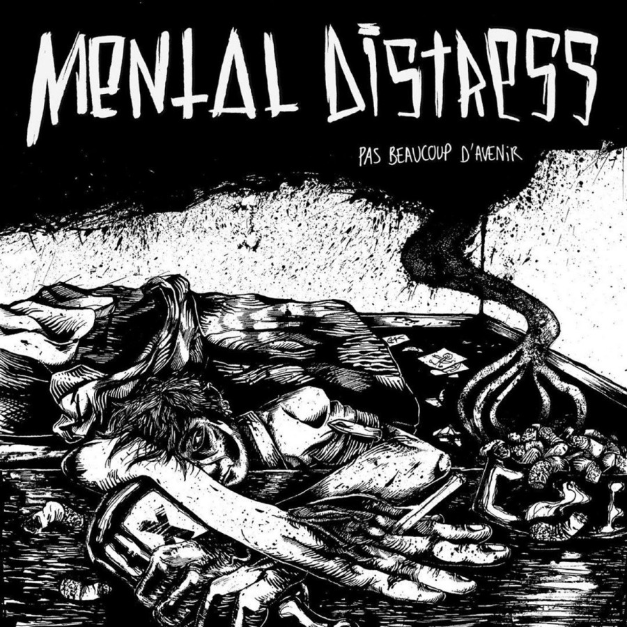 "MENTAL DISTRESS ""Pas Beaucoup d'Avenir"" / LP"